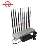 Emittente di disturbo del walkie-talkie dello stampo Wi-Fi/UHF/VHF del segnale dell'emittente di disturbo del telefono mobile; Migliori emittente di disturbo/interruttore portatili del telefono delle cellule delle 10 antenne