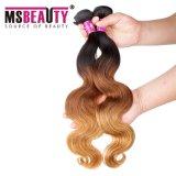 De Blonde van het Weefsel van het Haar van Ombre en het Bruine Haar van Remy van de Opperhuid Maagdelijke Braziliaanse Menselijke