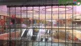 Haute luminosité intérieur extérieur P3.9 P7.8 Slim Affichage LED Couleur transparente de panneaux mur vidéo de verre