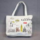 Karikatur-bewegliche Dame-Beutel-Segeltuchtote-Handtaschen-Einkaufstasche