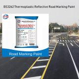 Polvere riflettente termoplastica della vernice della marcatura di strada di Caldo-Vendita BS3262 per la marcatura di strada Constructionglow nello scuro fatto in Cina