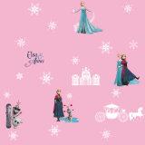 La princesa de dibujos animados para niños de diseño Papel tapiz para habitación de niñas