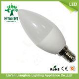 6W 유백색 덮개, E14 기본적인 LED 초 빛, 전구