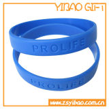 Bracelets minces de silicones respectueux de l'environnement de bonne qualité pour les articles promotionnels (YB-w-024)