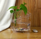 Vente en gros Clear Arylic Cheap Tall Cylinder Vases for Weddings