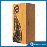 Caja de almacenaje de botella de madera del licor (HJ-PWSY03)