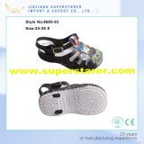 I bambini hanno stampato sandalo del capretto di EVA della cinghia superiore del PVC il solo
