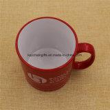 Tazza di ceramica poco costosa su ordinazione della tazza di caffè del tè della porcellana con il marchio di stampa