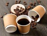 Tazas de café dobles impresas del papel de empapelar