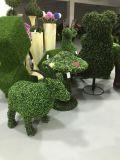 Artifício Topiary Grass Garden Animals Figurine Artificial Plant Sculpture