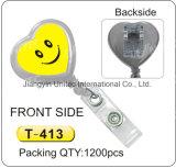 Double Side Lächeln Badge Reel T-413 / T-414 / T-415 / T-416 / T-417 / T-418 / T-419 / T-420
