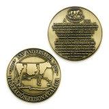 Повелительница напечатанная металлом Вольность Сувенир Бросать вызов Монетка