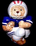 Vaso di biscotto di ceramica dipinto a mano del casco della Jersey del giocatore di football americano dell'orso dell'orsacchiotto