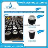 lumière sous-marine imperméable à l'eau en acier de syndicat de prix ferme de 316stainless DEL (base ronde)