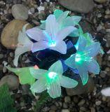 Solarfaser-optisches Blumen-Garten-Zeichenkette-Licht, Tigerlily