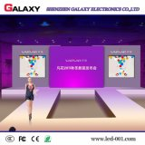 El panel/pantalla/visualización de interior de alquiler de la galaxia LED para la demostración, etapa, conferencia (rentable) de P3/P4/P5/P6