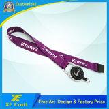 Lanyards de impressão de transferência de calor Custiomized profissional de fábrica para promoção (XF-LY02)