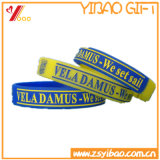 Bracelete/Wristband feitos sob encomenda do silicone do logotipo da venda superior