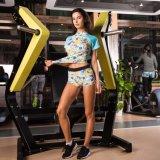 Women Dry Quick Jogging Exercises Tees Compressão Gym Sportswear
