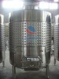Aço inoxidável jaqueta de refrigeração do vaso de armazenagem do vinho com Tampões laterais