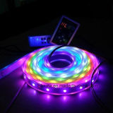 5m / Roll SMD5050 Dream Color LED Flexible Strip com 6803 IC