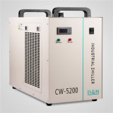 O armazenamento frio industrial de máquina de gravura do refrigerador de água dissipa o calor