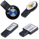 Abobadando varas de marcagem com ferro quente da memória Flash do USB do estilo da resina Epoxy do logotipo