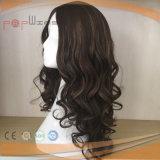 Parrucca superiore di seta su ordinazione delle donne dei capelli umani dell'unità di elaborazione (PPG-l-0658)