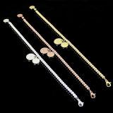 Armband van de Parel van de Vrouwen van de Douane van de manier de Juwelen Gepersonaliseerde 18k Gouden Ronde