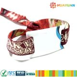 Weiches ISO14443A MIFARE plus Festivalereignisgewebe RFID VinylWristbands SE-1k