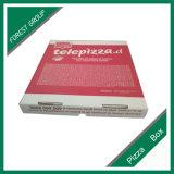 Roter Firmenzeichen-Drucken-gewölbtes Papier-Pizza-Kasten