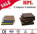 revestimiento de la pared de /HPL del laminado del compacto de 8m m