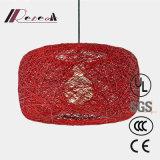 Lámpara pendiente de la jerarquía del nuevo de la rota del cáñamo pájaro moderno de la bola