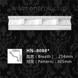 Corona decorativa grande de la cornisa de la cuerda del poliuretano que moldea Hn-8088