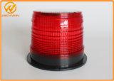 La energía solar Powered LED parpadea la luz de advertencia de construcción de carreteras