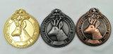Emblema chapeado da lembrança do ouro 3D prata de cobre antiga feita sob encomenda