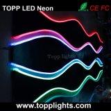 차 네온 등의 밑에 색깔 LED 광원을 방출하는 RGB