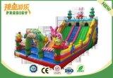 La escalada de diversiones al aire libre juguetes inflables para niños se divierten