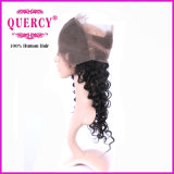 Encierro frontal de 360 cordones con el pelo de los bebés, onda profunda del color natural