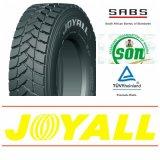 pneus do caminhão do tipo Dy3 de 315/80r22.5 Joyall e pneus de TBR
