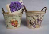 Bac de fleur en bois antique d'impression de couleur avec le traitement