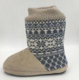 Ботинки Brown Средний-Икры Knit женщин