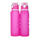 Leichter umweltfreundlicher mehrfachverwendbarer Arbeitsweg-Sport-kampierende Wasser-Flasche des Silikon-35oz