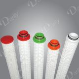 Cartouche de filtre plissée de 66 mm d'épaisseur utilisée dans l'environnement industriel