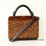 Het Ontwerp van het merk Dame Leopard Print PU Handbags de Zak van de Dame Schooltas (nmdk-041908)