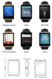 2017 сердечник 1GB 8GB квада телефона Mtk6580 WiFi 3G Smartwatch Android 5.1 способа D6 с цветом черноты телефона тарифа сердца GPS 3G SIM Bluetooth франтовским