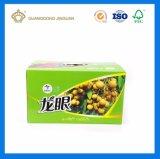 Alta calidad de los envases de frutas caja de envío con mango de plástico (Fuerte corrugado flauta E Caja).