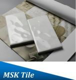 tegel van de Metro van de Regendruppel van 75X150mm de Witte Verglaasde Ceramische