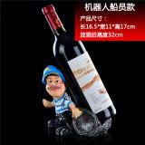 Forma granjero vino del sostenedor del estante del vino para la decoración casera