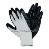 Nitril-Palme beschichtete Sicherheits-Arbeits-Handschuhe
